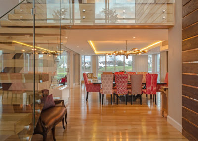Fancourt House: entrance and dining area